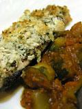 鮭のハーブパン粉焼きとラタトイユ(ラタティーユ)