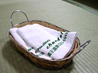 アメニテイのキャンドル・オリジナルタオル
